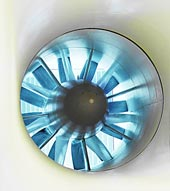 Ventilátor běžného aerodynamického tunelu