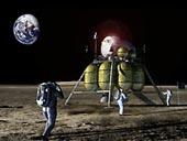 Nový lunární modul na Měsíci