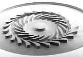 Kompresorová část vysokootáčkové turbíny