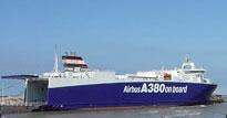 Doprava dílů A380 lodí