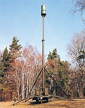 Radar Věra ve funkčním stavu v lese