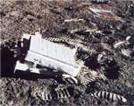 Zrcadlo na měsíci umístěné astronaouty Appola 11